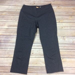 Lucy Activewear Small Heathered Gray Crop Leggings